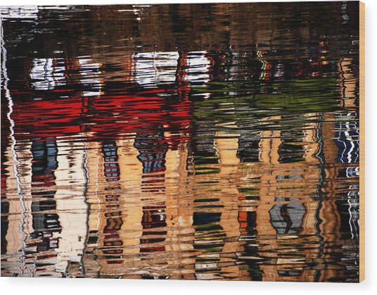 Honfleur Abstract Wood Print by Jacqueline M Lewis
