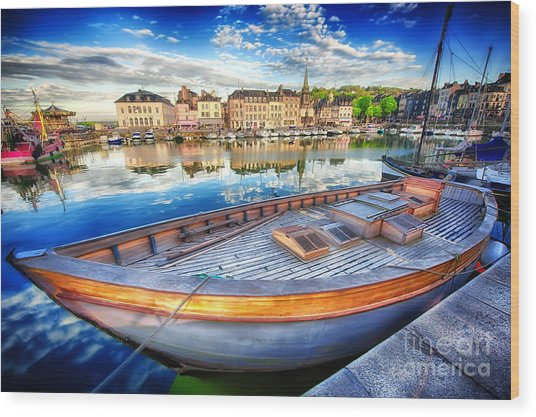Honfleur At Rest Wood Print