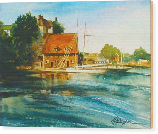Honfleur Harbor Wood Print