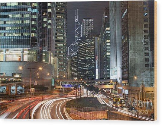 Hong Kong Rush Hour Wood Print by Lars Ruecker