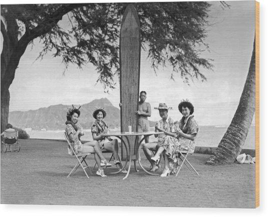 Honolulu In 1930 Wood Print