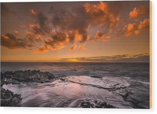 Honolulu Sunset At Koolina Resort Wood Print