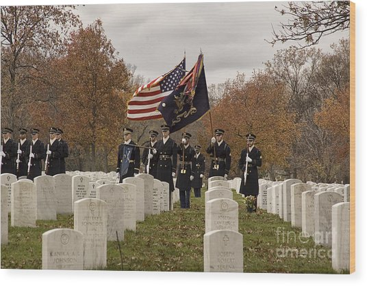 Honor Guard Wood Print