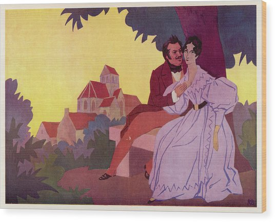 Honore De Balzac With His  Greatest Wood Print by Mary Evans Picture Library