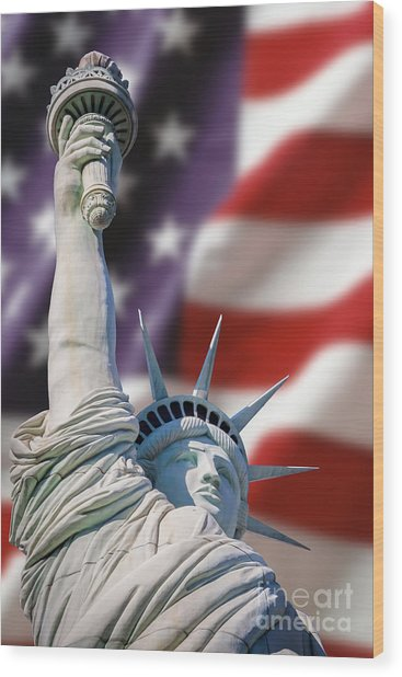 Honour Liberty And Freedom Wood Print