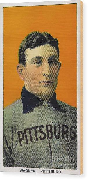Honus Wagner Baseball Card 0838 Wood Print