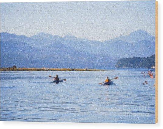 Hood Canal Kayaks Wood Print