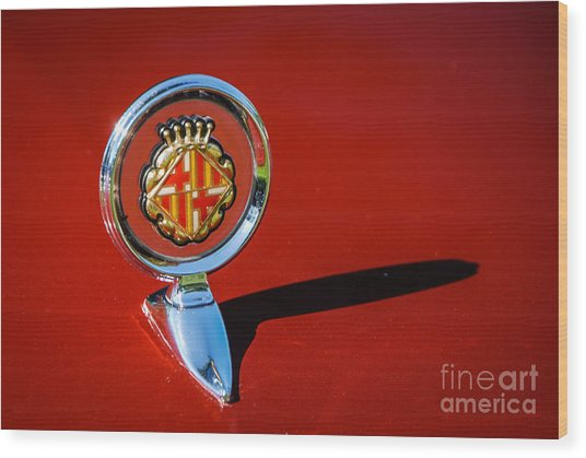 Hood Ornament On Matador Barcelona II Coupe Wood Print