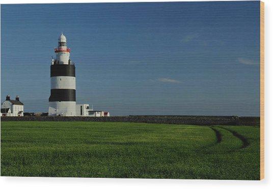 Hook Head Lighthouse Wood Print by Peter Skelton