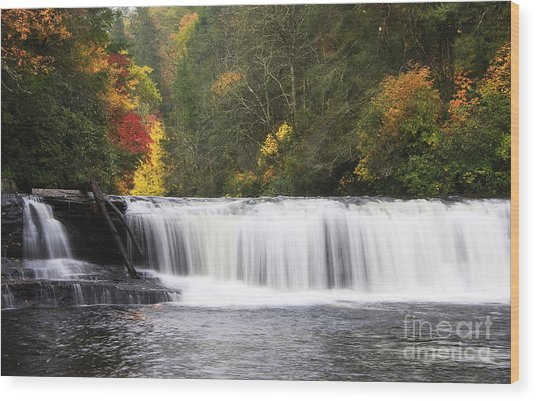 Hooker Falls In North Carolina Wood Print