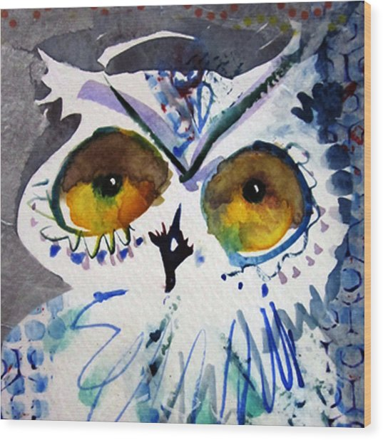 Hoot Cropped Wood Print