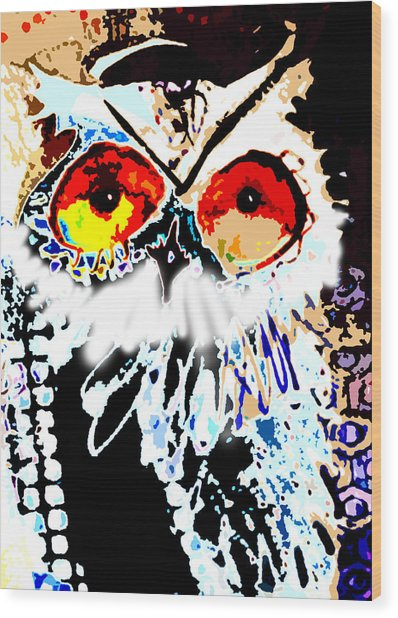 Hoot Digitized Wood Print