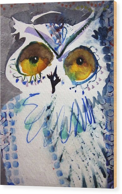 Hoot Uncropped Wood Print
