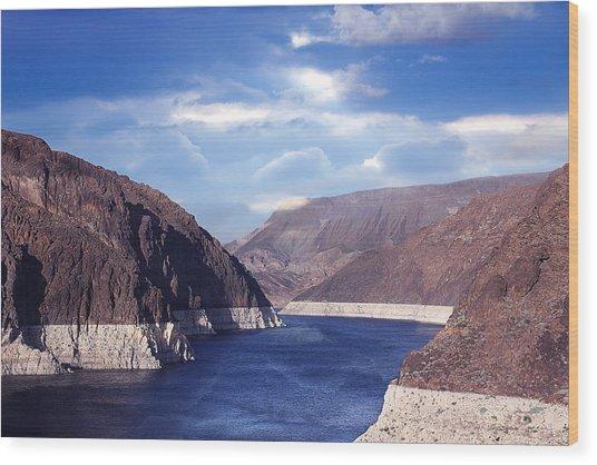 Hoover Dam Wood Print by Yosi Cupano