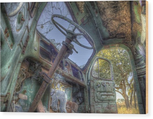 Hop In Wood Print