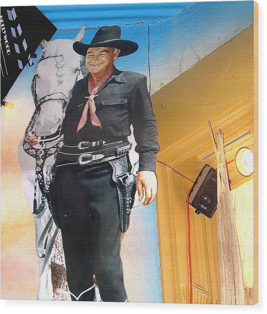 Hopalong Cassidy Cardboard Cut-out Tombstone Arizona 2004 Wood Print