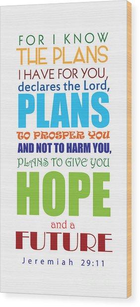 Hope 2 Wood Print