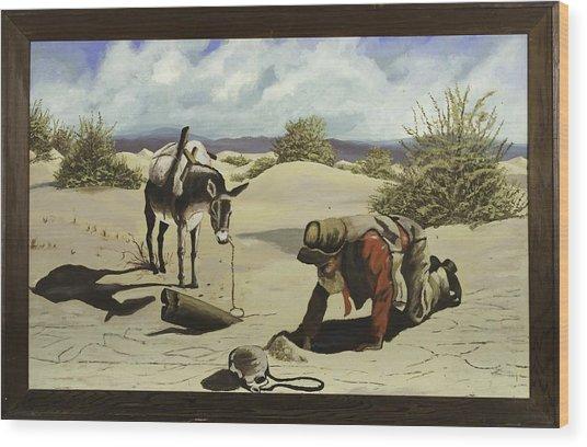 Hope In The Desert Wood Print