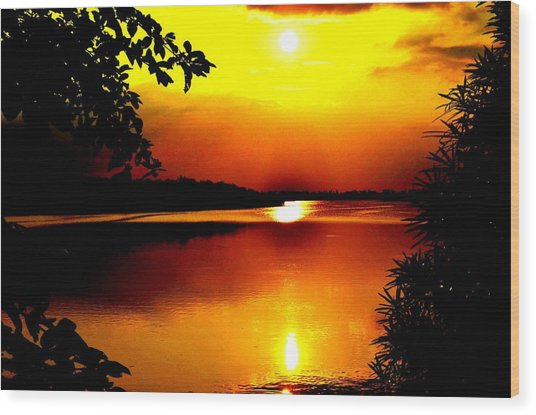 Hope Is Still There Sunset Wood Print by Deepti Chahar