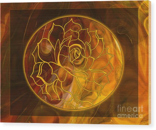 Hope Springs Eternal Abstract Healing Art Wood Print