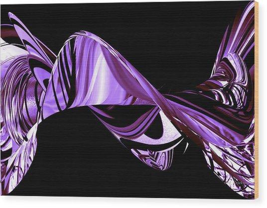 Hope Springs Eternal In Twists And Turns Of Purple Wood Print