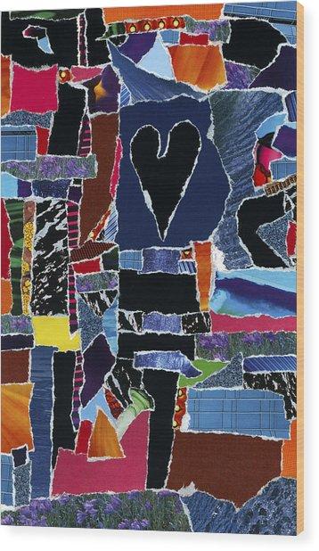 hope U'r still reading Wood Print by Kenneth James