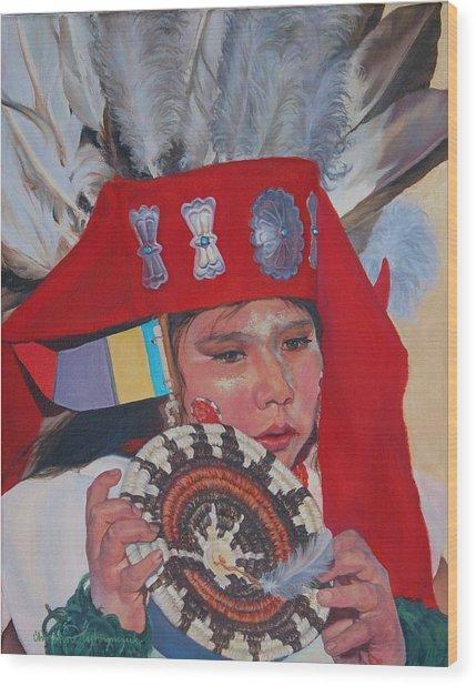 Hopi Basket Dancer Wood Print