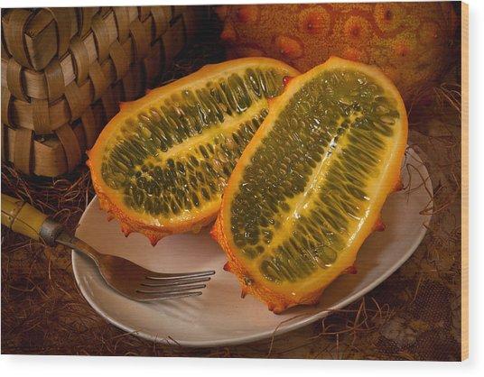 Horned Melon0541 Wood Print
