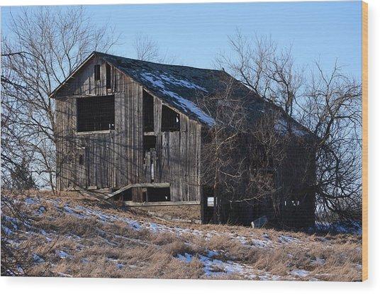 Horning Road Barn2 Wood Print by Jennifer  King