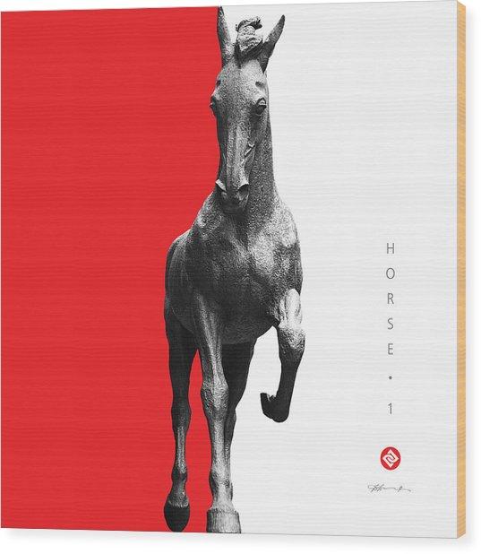Horse 1 Wood Print