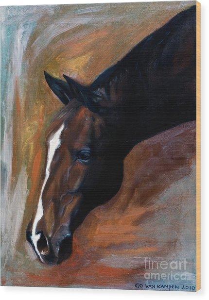 horse - Apple copper Wood Print