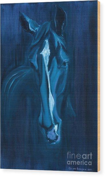 horse - Apple indigo Wood Print