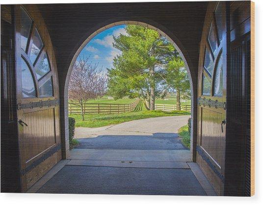 Horse Barn Wood Print