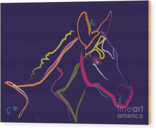 Horse - Colour Filly Wood Print