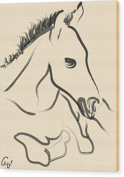 Horse-foal-pure Wood Print