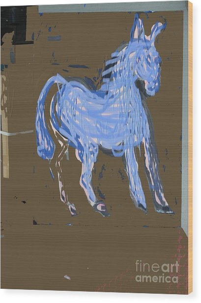 Horse Revisited Wood Print by Jay Manne-Crusoe