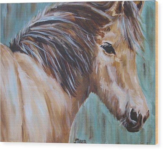 Horse Whisper Wood Print