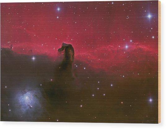 Horsehead Nebula Wood Print by Brian Peterson