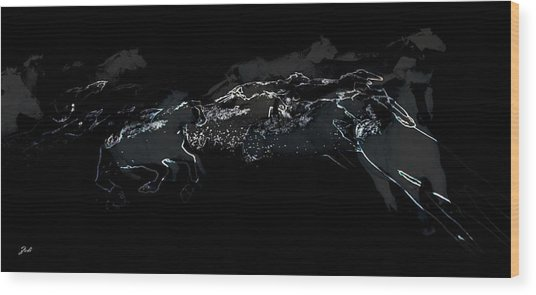 Horses - Cavalli Wood Print