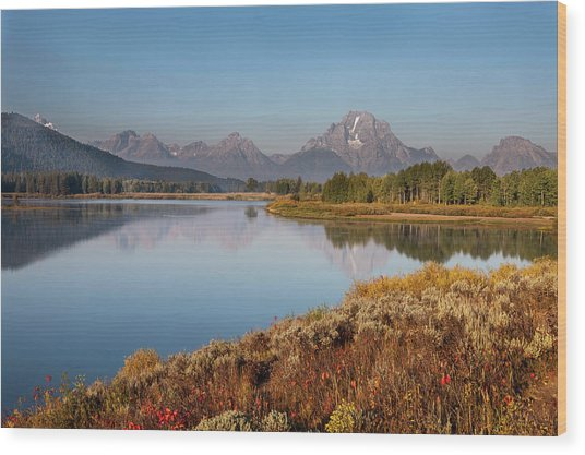Horseshoe Bend Grand Teton National Wood Print