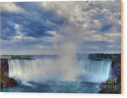 Horseshoe Falls Wood Print