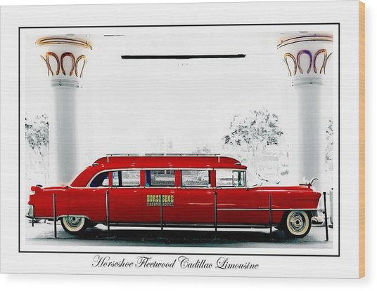Horseshoe Fleetwood Cadillac Limousine Wood Print