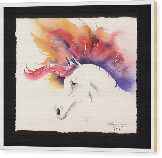 Horsin Around Number One Wood Print by David  Chapple