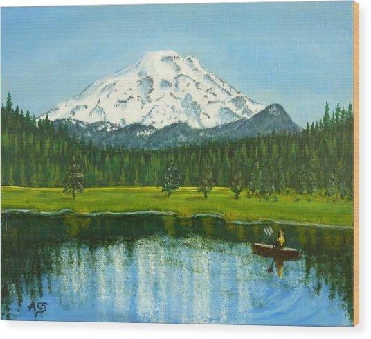 Hosmer Lake Wood Print