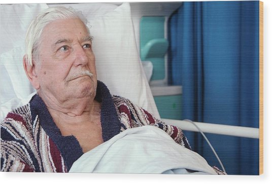 Hospital Patient Wood Print by Life In View