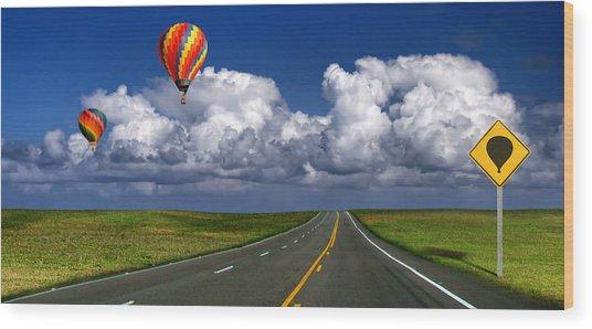 Hot Air Balloons Wood Print by Carlos Gotay