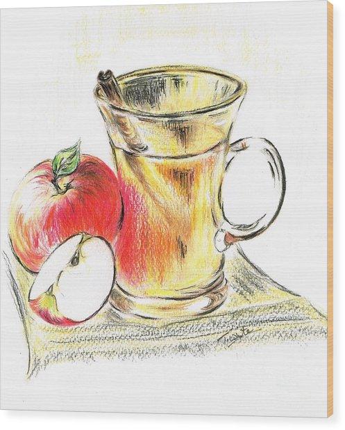 Hot Apple Cider Wood Print