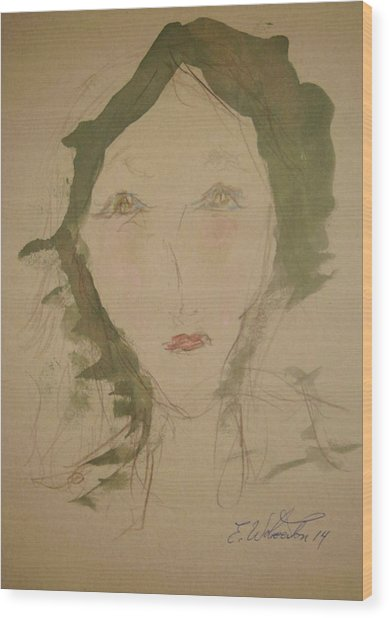 Hot Lips In Silence Wood Print by Edward Wolverton