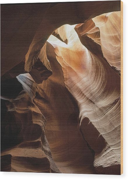 Slot Canyon  Vertical Wood Print
