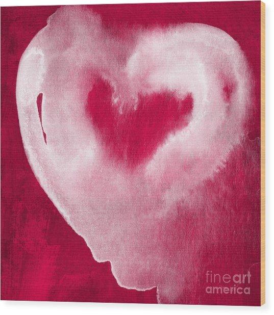 Hot Pink Heart Wood Print